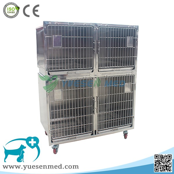 best quality 304 stainless steel veterinary cages dog crate wholesale