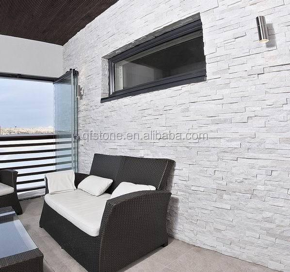 Decorative Stone Wall natural quartzite indoor/interior decorative white wall stone