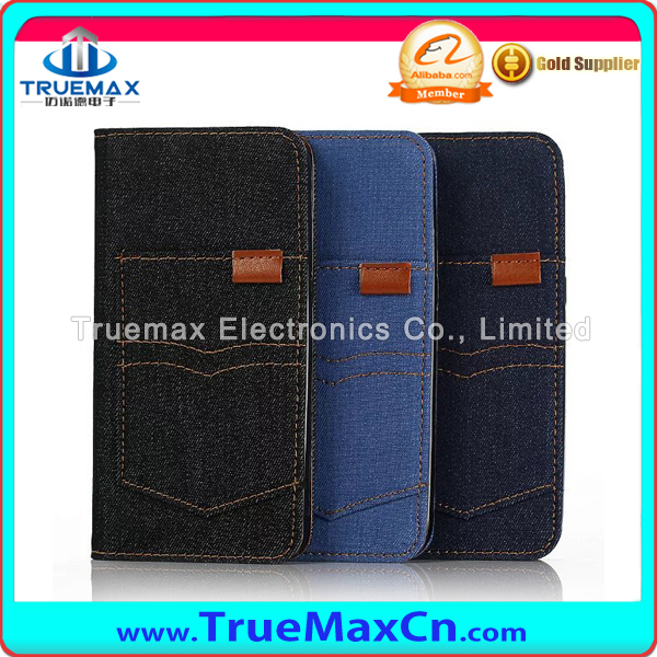 In stock Luxury Jeans Pocket Styple Phone Case with Card Holder Flip Cover Leather Case for Samsung Galaxy Note 7 Leather Case f