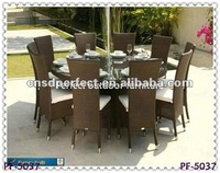 chrome and rattan furniture