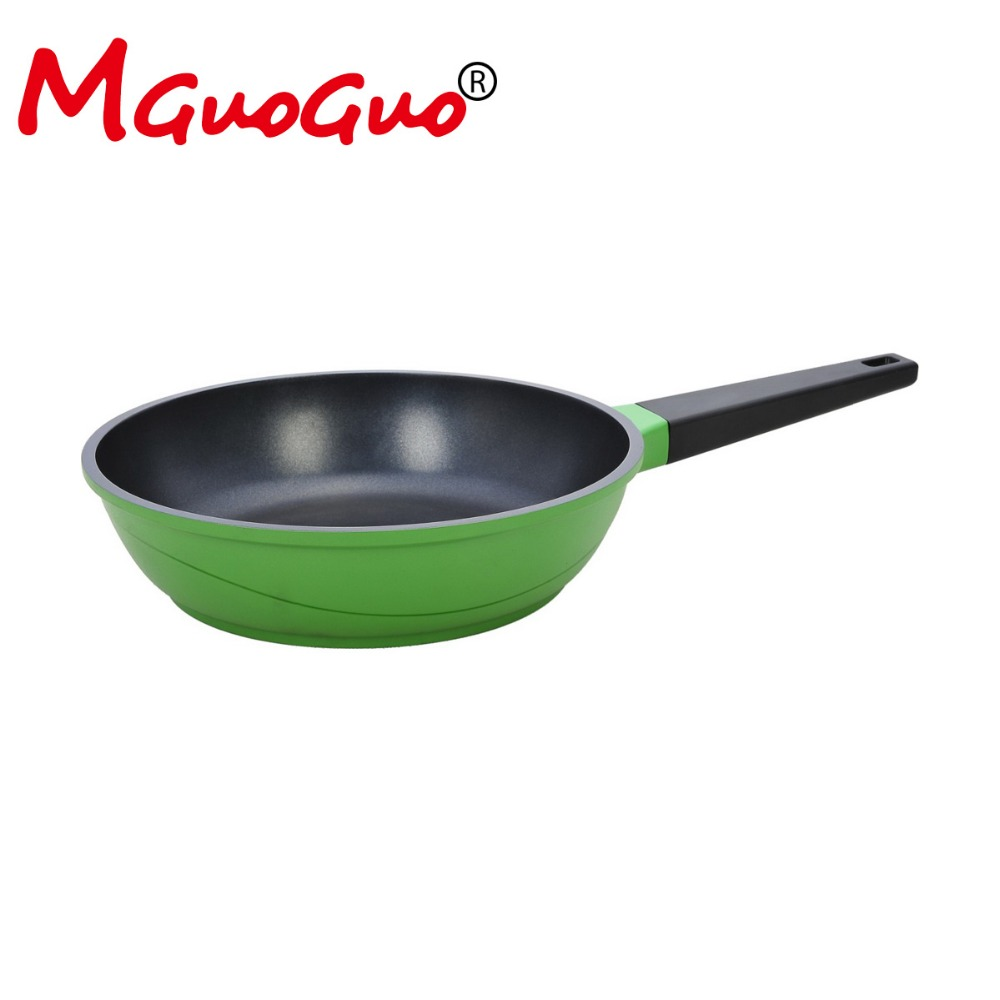 casting aluminum non-stick frying pan 20cm with colorful for induction cooker