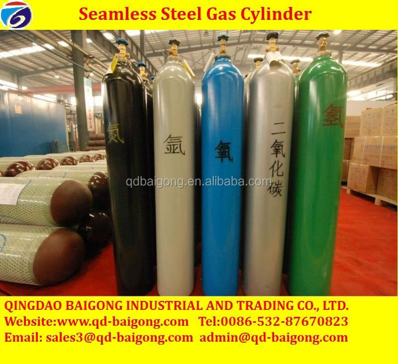 ISO9809 Seamless Steel Oxygen Tank Hydrogen Price In Industrial