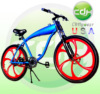 CDH 26 inch Mag Wheel Motorized Bicycle Gasoline Engine Bicycle, Gas Bike built in 2.4L gas frame
