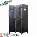 Industrial Black 3 Panel Handcrafted Metal Room Divider Screen Carved On Both Sides