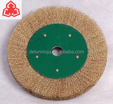 40# Copper Wire Brush Wheel with 12mm Arbor Size for Rust Removal EN12413