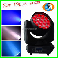 rgbw zoom 19x15w 4in1 led moving head wash light/19pcs*15w led moving head light stage light/led small moving head light