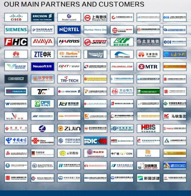 main partners and customers