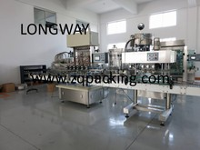100% factory for sale automatic aicd packing line from Round bottle feeding machine,filling ,capping .labeling ,boxing )