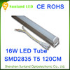 High brightness Aluminum 1200mm T5 led tube 85-265V 16W SMD2835 led tube light