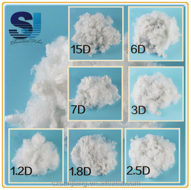 Recycled dacron polyester for polyester fiber 1.2D to 15D