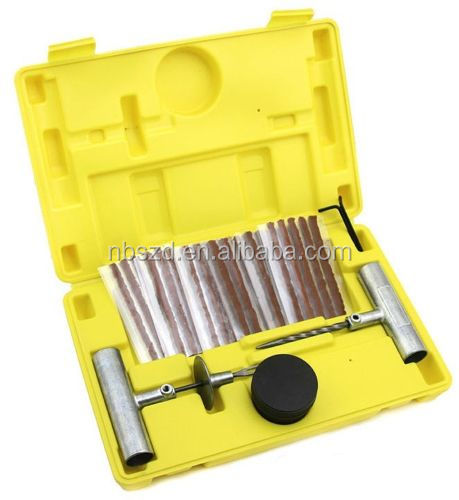 35 PCS Tire Tyre Repair Tool Kit Case Plug Patching Tubeless Tires Insert Spiral Hex