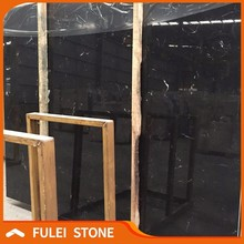Cheap introduction of china black marble with white veins slab price