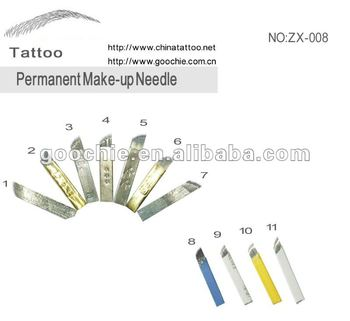 eyebrow permanent makeup tattoo needle blade for microblading