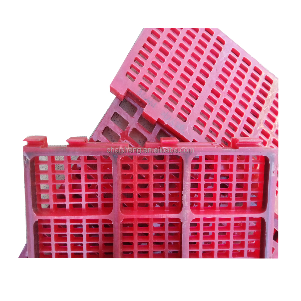 polyurethane/rubber mine screen mesh/screen panel to sieve ore stone
