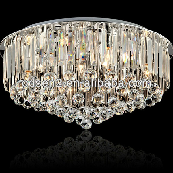 2014 top selling gold high ranking crystal chandelier with tassels and decorative balls