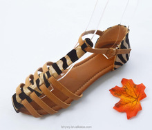 Leopard sexy pattern south indian sexy girls flat ladies shoes