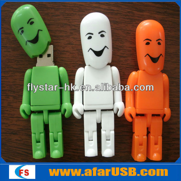 custom usb people, plastic people shape usb, hot sale cute people usb