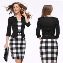 Black ladies latest office uniform design fashion frock suits for women