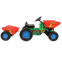 adult pedal car toy tractor kids ride on mini dumper with trailer 412