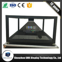 China factory supply 2017 High quality full hd holographic display 3d pyramid