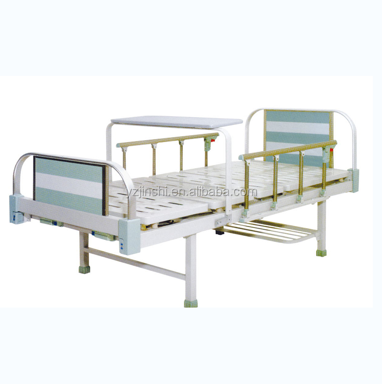 Hospital Furniture 2 Functional Hospital Nursing Room Adjustable Two- Crank Medical Manual ICU Bed