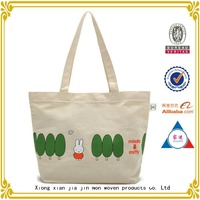 China wholesale customized women canvas tote bag