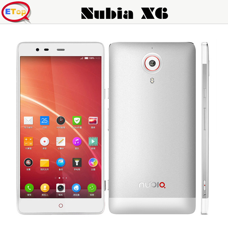 New ZTE Nubia X6 4G single SIM Cards LTE/WCDMA/TD-SCDMA/EVDO 7 Mode 15 Frequency Double 13.0MP Mobile Phone