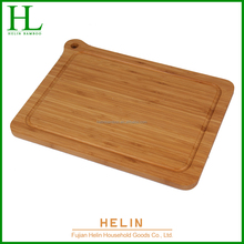 Good quality bamboo cutting board with drop groove