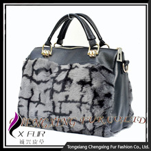 CX-H-46 New Products Wholesale Trendy Real Mink Fur Ladies Handbags Tote Bag