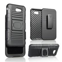 WinTop Phone Case Belt Holster 2 Kick Stand Magnet Mount Hybrid Armor Shock Cover for Samsung Galaxy J7 2017