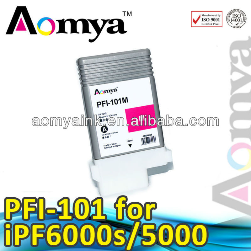 Aomya printing new compatible ink cartridge PFI-101 for Canon IPF5000