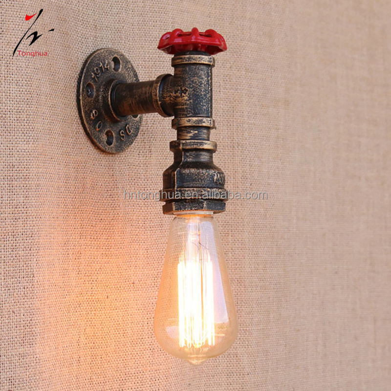 Retro Design Vintage Industrial Pipe Wall Lamp for Decoration