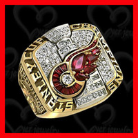 2002 Detroit Red Wings NHL Rose gold championship ring with cubic zircon setting jewelry ring