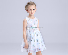 new style fashion simple design kids girl's frock