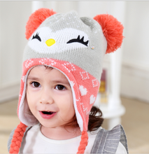 Baby hat autumn/winter 1-3-6-year-old south Korean male and female children's knitted ear cap baby warm hair hat