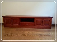 antique wooden TV cabinet designs with one drawer and four doors