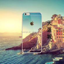 New products 3D visual for iPhone 6 cell phone case with Sky-line City design, high quality TPU
