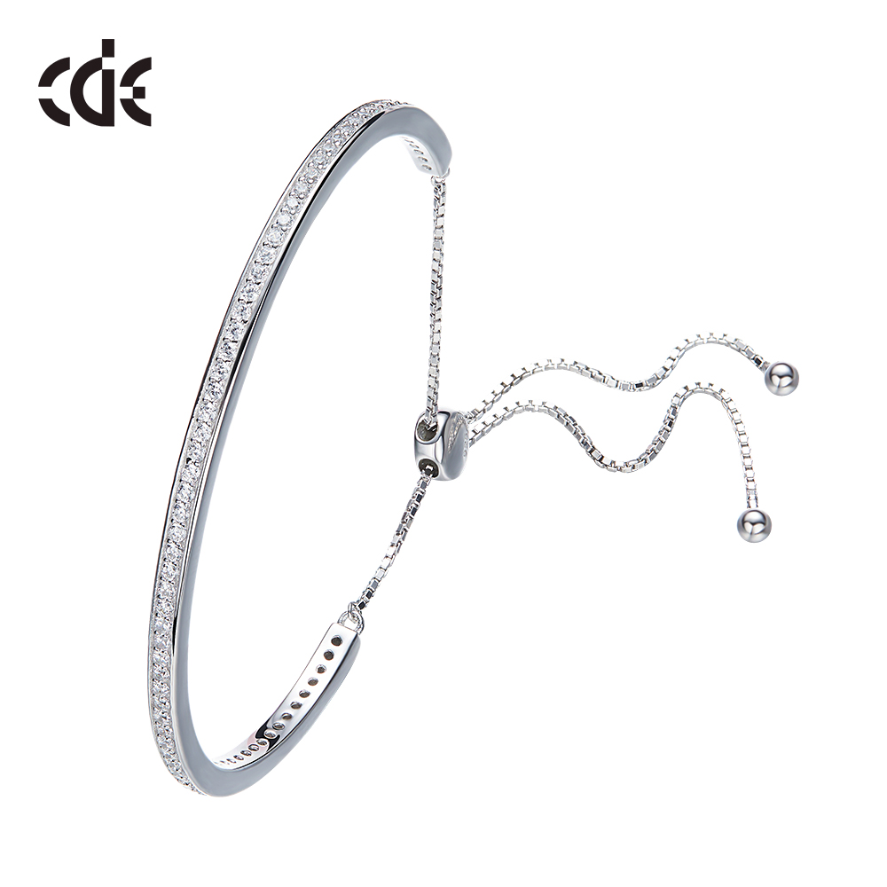 ODM OEM zirconia & crystals from Swarovski factory custom fashion 925 silver design cubic zirconia bracelet bangles