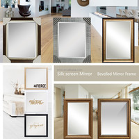 INTCO Retail Stores Hot selling wooden Mirror frame and Bevelled glass Mirror