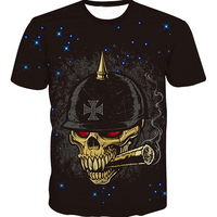 Heavy metals band full printing wholesale price man short sleeve t shirt