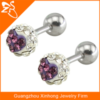 ES01721 Fashion Design Shamballa Crystal Beaded Earring stud for ladies