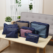 Waterproof 6 pieces set Traveling Packing Clothes Organizer Storage Bag