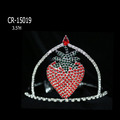 "3.5"" Red Crystal Strawberry Tiaras"