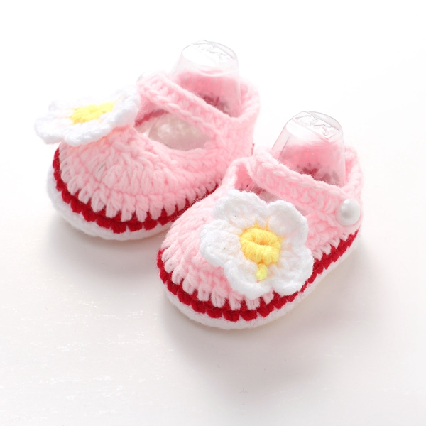 Queena Hand woven egg flowers baby shoes