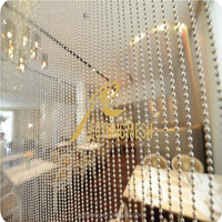 Metal beaded string curtain for window/door/wall decoration
