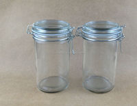 clip top straight glass jars 500ml glass storage jar glass canister