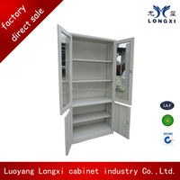 stainless steel wardrobe/kitchen wall cabinet with glass door display