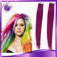 alibaba express 18inch fashionable color tape hair extensions hair 40pieces/pack factory direct price