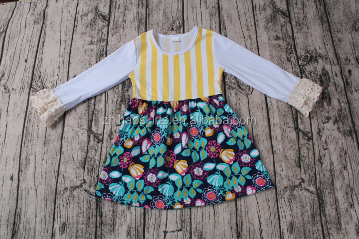 2016 wholesame fancy frock designs for girls lovely girls printed frock designs baby cotton frocks