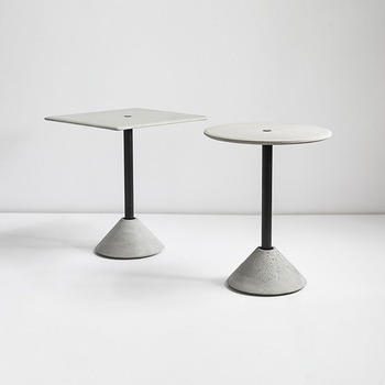 DING Round Table Square Table cement product design by BENTU